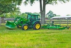 New John Deere 5085M Utility Tractor with 85 engine horsepower